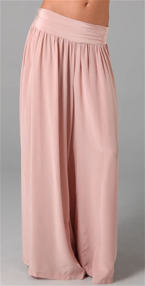 light pink palazzo pants jarbo palazzo pants in pink lyst