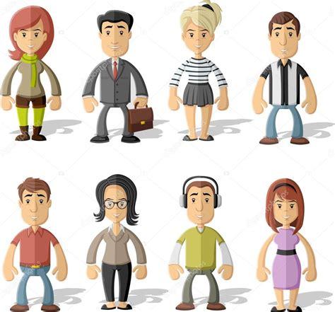 imagenes vectoriales personas grupo de dibujos animados personas archivo im 225 genes