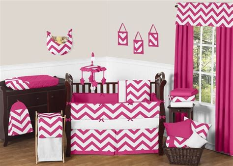 pink and grey chevron baby bedding hot pink and white chevron zigzag baby bedding 9pc crib set by sweet jojo designs