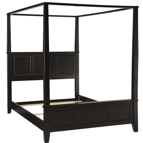 Black King Canopy Bed Bedford Black King Canopy Bed Homestyles