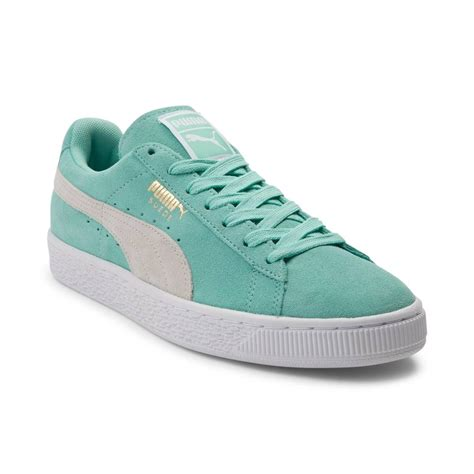 pumas shoes womens suede athletic shoe green 361625