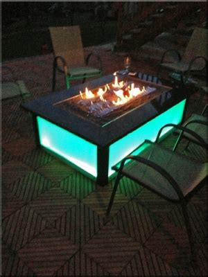 Fire burner accessories for fire pit tables with fireglass