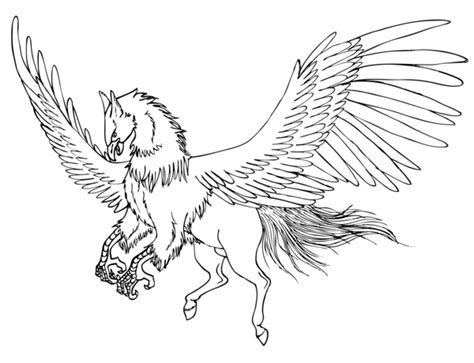 hippogriff coloring page isei the hippogriff by deerdandy on deviantart
