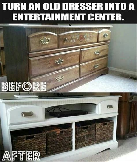 How To Turn A Dresser Into A Tv Stand by Turn Dresser Into A Tv Stand Diy