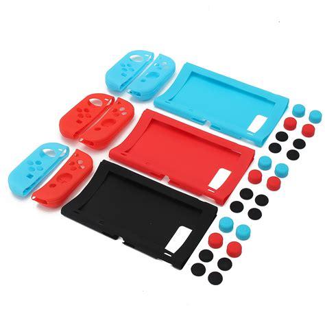 Nintendo Switch Silicon Protection Kit 11 In 1 Free Screen tempsa 11 en 1 silicone housse etui coque casquette de joystick pr nintendo switch console