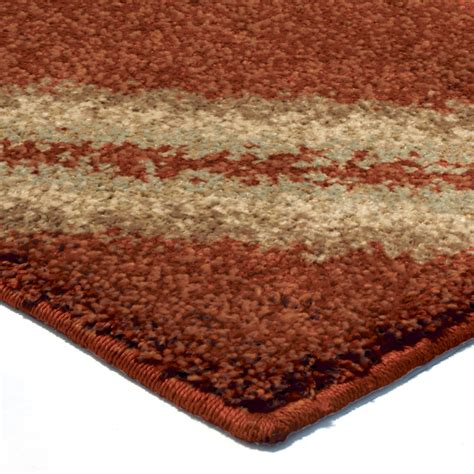 Orian Rugs Plush Diamonds Concentric Diamonds Burnt Orange Orange Rugs