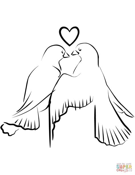 love birds coloring page free printable coloring pages