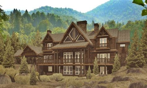 log and stone house plans lodge log homes floor plans stone and log home plans log
