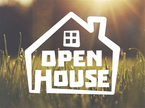 how to do an open house open house logo by justin ellis dribbble