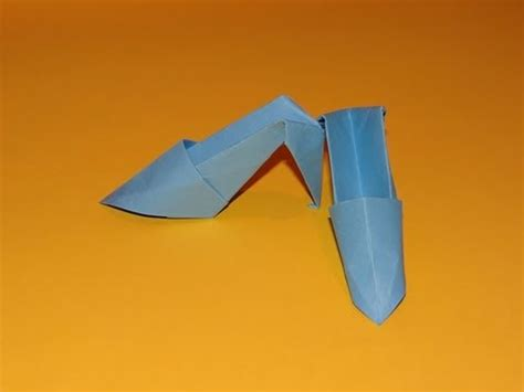 How To Make A Paper High Heel Shoe - how to make origami high heels