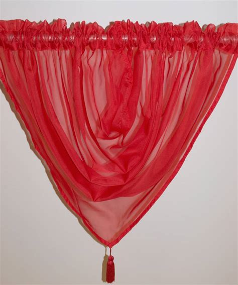 red swag curtains plain voile swag red net curtain 2 curtains