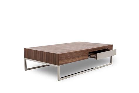 agate modern walnut coffee table