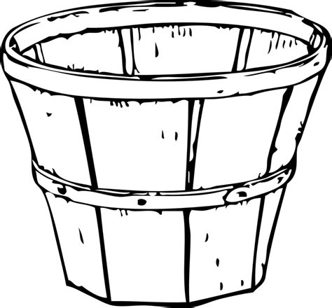 free vector graphic basket wooden bin empty free