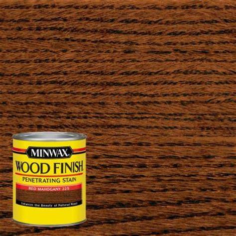 minwax 1 qt wood finish red mahogany oil based interior