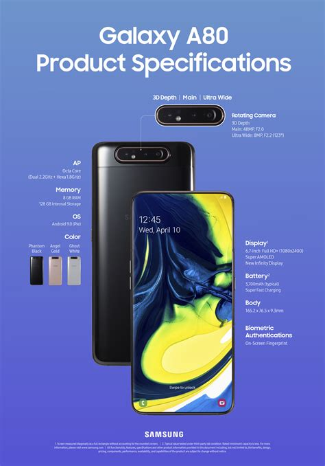 Samsung Galaxy A80 Features by Infographic Galaxy A80 And Galaxy A70 Specs At A Glance Samsung Global Newsroom
