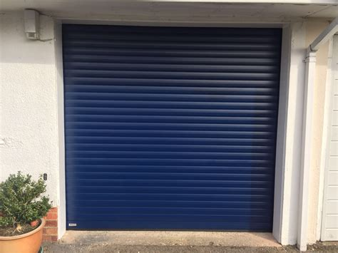 blue garage door navy blue seceuroglide roller garage door shutter spec security