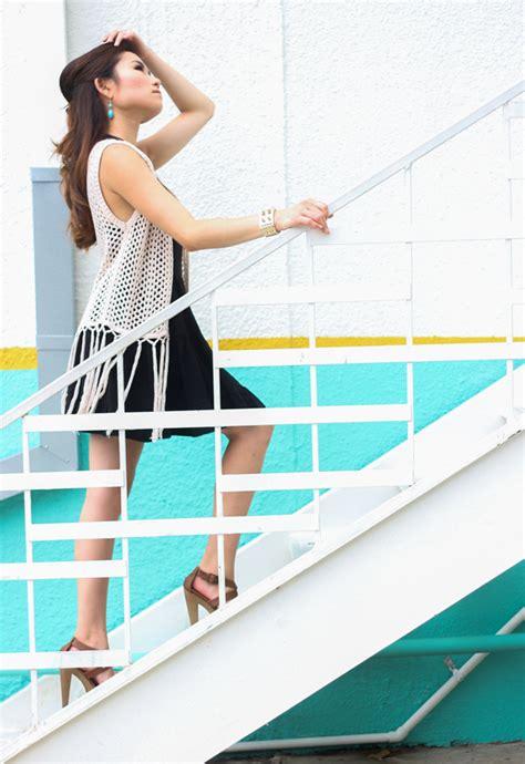 Dress Wedges Motif crochet lace vest miss louie
