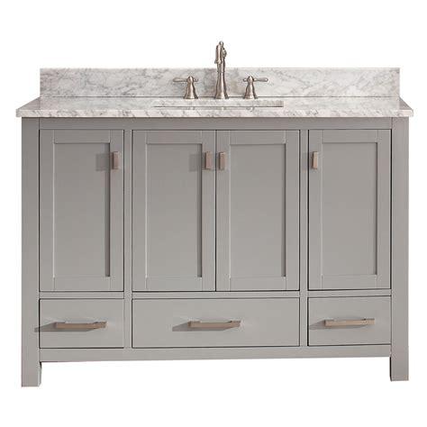 28 Inch Bathroom Vanity Avanity Modero 48 Quot Single Bathroom Vanity Chilled Gray