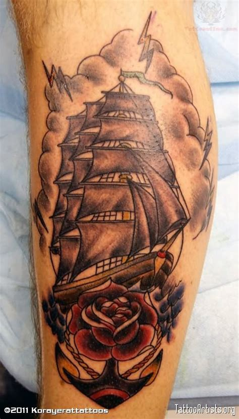 ship and rose tattoo pirate ship images designs