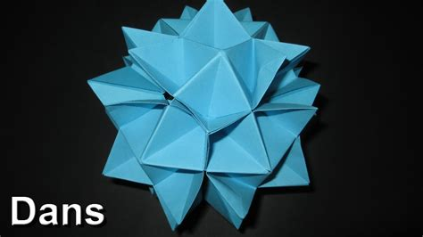 Cuboctahedron Origami - how to make an origami spiky cuboctahedron complete