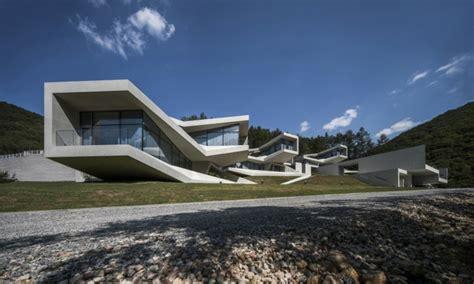 Concrete Home Floor Plans arquitectura moderna en hongcheon corea del sur