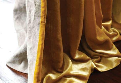 mustard yellow velvet curtains gele gordijnen fluwelen