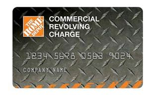 commercial revolving charge card at the home depot