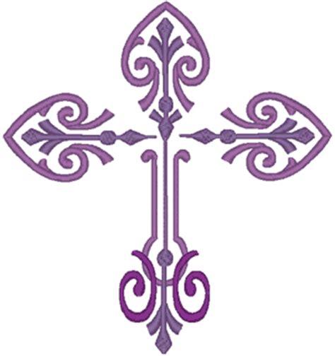 embroidery design cross decorative scroll cross embroidery design