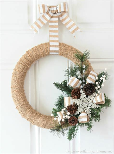 burlap christmas wreath tutorial love of family home
