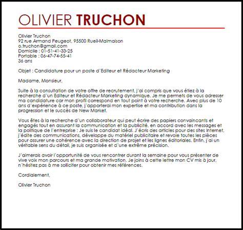 Lettre De Motivation De Journaliste exemple lettre de motivation editeur et r 233 dacteur livecareer