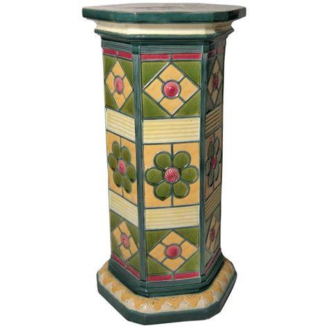Pedestal For Plants wedgwood majolica pedestal plant stand at 1stdibs