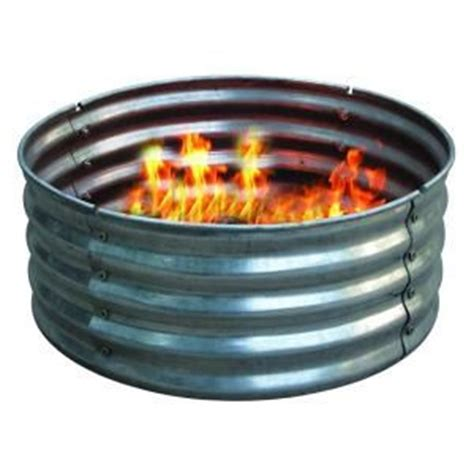 pit gas ring home depot 30 in galvanized pit ring ds 18727 at the