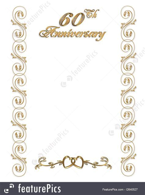 Cards And Posters: 60Th Anniversary Invitation Border