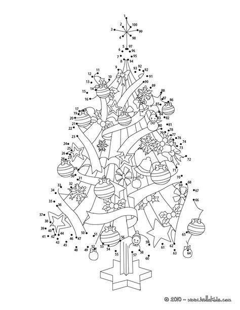 Christmas tree printable connect the dots game | Desenho