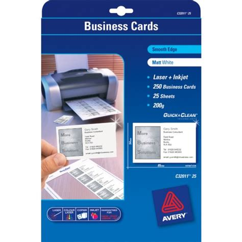 avery laser business cards template avery 174 smooth edge clean business cards