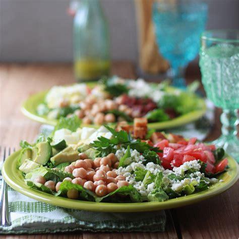 Fast Easy Dinner Salad With Saganaki by Easy Dinner Cobb Salads Kitchen Treaty