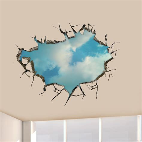 Wall Sticker Home 2 3d sky wall decals ceiling wall stickers 22 inch
