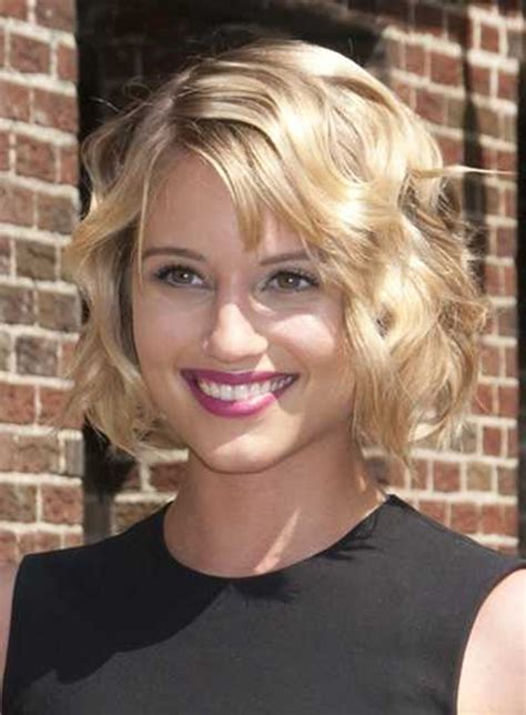 wavy bobs for square faces side swept bangs for a square face women hairstyles