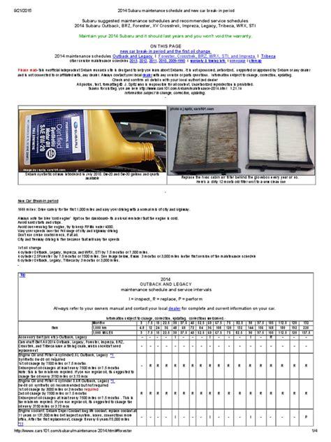 subaru impreza 2012 maintenance schedule 100 2010 subaru impreza outback owners manual