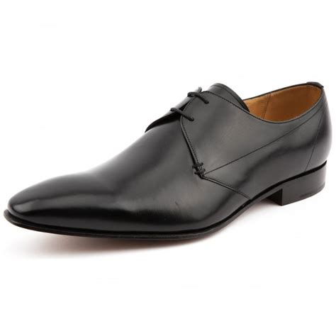 kilburn black leather lace up shoe