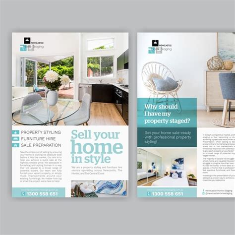 flyer design newcastle design double sided flyer for newcastle home staging