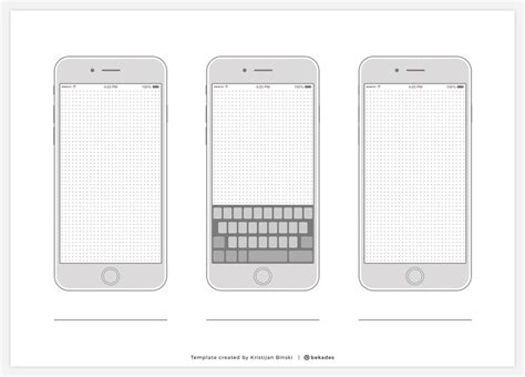 Device Wireframe Templates Collection Free Resource Freebie Supply Iphone App Wireframe Template