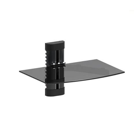 Mount World 1444 Compact Glass Component Single Shelf For Shelves For Cable Box And Dvd Player