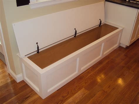 Built In Bench Storage Traditional Kitchen Boston