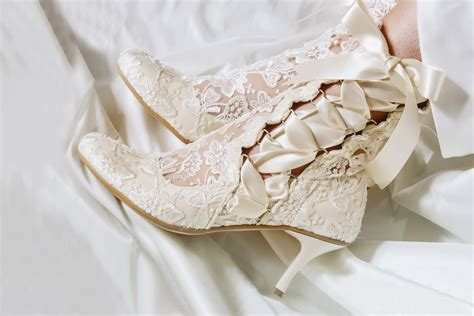 Wedding Shoes And Boots by Lotti Elliot Ivory Lace Wedding Ankle Boots Jpg