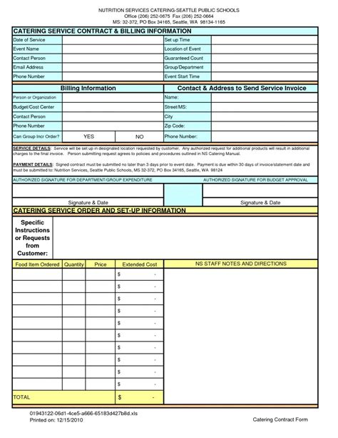 catering spreadsheet template catering invoice template free catering service