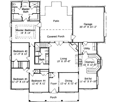 house plans 2400 square feet 2400 sq ft house plan southern style house plan 3 beds 2 5 baths 2400 sq ft house