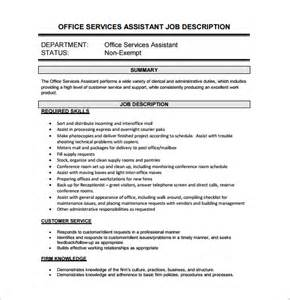 office assistant description template 11 office assistant description templates free