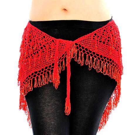 cairo collection beaded crochet hip scarf wrap