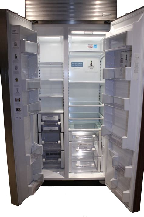sub zero side by side 5697 sub zero 36 quot built in side by side refrigerator bi 36s o